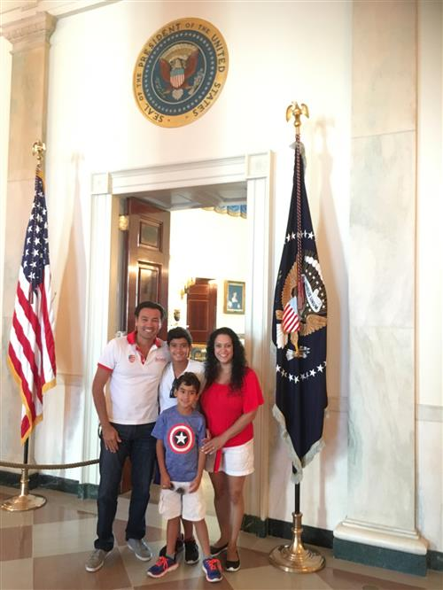 Botero Family in the White House