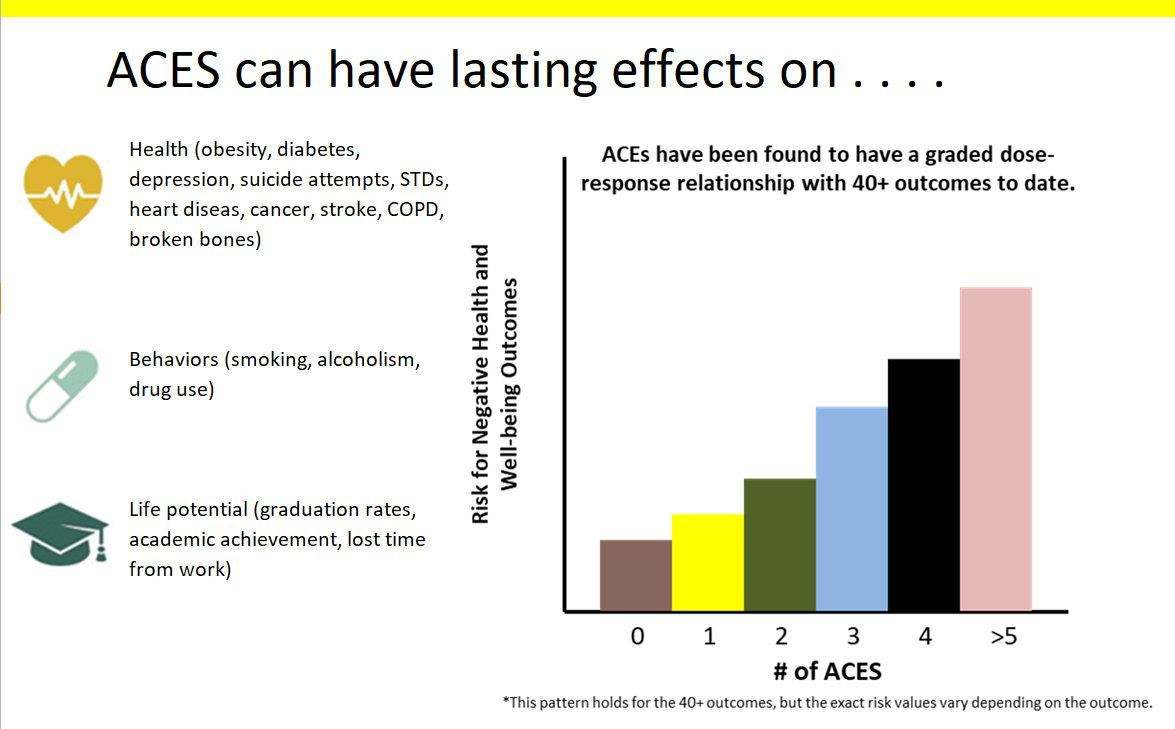 "Chart showing the lasting effect ""ACES"" can have on children"
