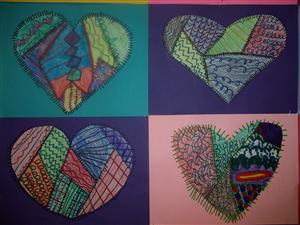 Heart Quilt Closeup